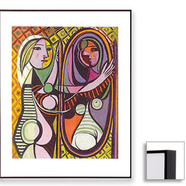 Pablo Picasso - Girl Before a Mirror (Dark Brown Frame)