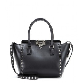VALENTINO - Rockstud Noir leather shoulder bag