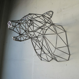 Wyatt Studio - Bear Head Sculpture
