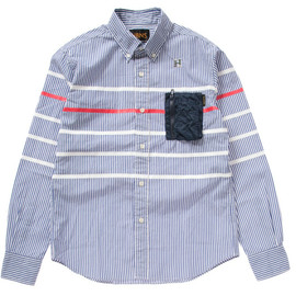 HABANOS - MILITARY STRIPE BORDER B.D. L/SL SHIRTS