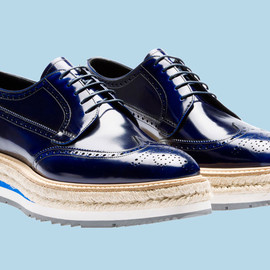 PRADA - Wing Tip Shoes (BLUE)
