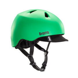 Bern - Bern Kids Nino Summer Matte Kelly Green w/ Visor