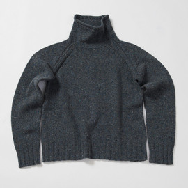 MHL. - BULKY NEP MOCK TURTLE SWEATER