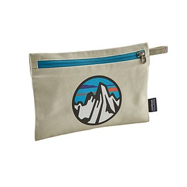 patagonia - Zippered Pouch, Fitz Roy Scope Icon: Bleached Stone (FRIB)