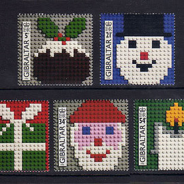 LEGO - LEGO クリスマス 切手 postage stamp