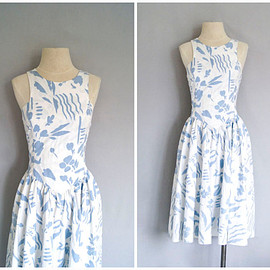 80s sundress // vintage floral day dress