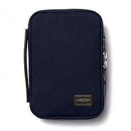 "HEAD PORTER - ""NATAL"" TRAVEL POUCH NAVY"