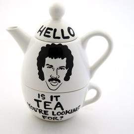 LennyMud - Hello Lionel Richie Ritchie Teapot Tea For One