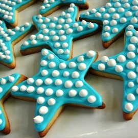 Blue Stars Sugar Cookies
