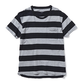 nonnative - DWELLER TEE SS LOOSE-FIT COTTON WIDE BORDER JERSEY