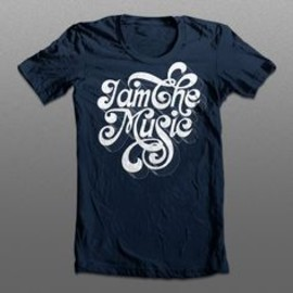 I am the music navy tee