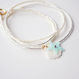 a cloudy dream - SHELL BRACELET MINT/WHITE