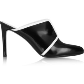 KENZO - Two-tone patent-leather mules