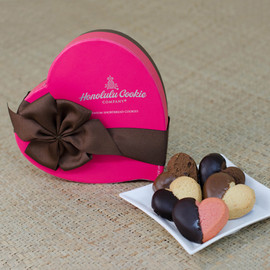 Honolulu Cookie Company - Pink Heart Box
