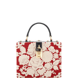 DOLCE&GABBANA - SS2015 Rosso And Ecru Embroidered Cady Box Bag