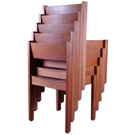 Five Architectural  Stacking Chairs by Carl Aubock
