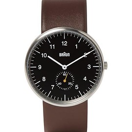 Braun - BN0024 Leather and Stainless Steel Watch
