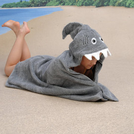 Yikestwins - GREY Shark hooded towel