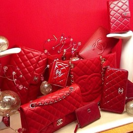 CHANEL - handbag all in red!!!!!