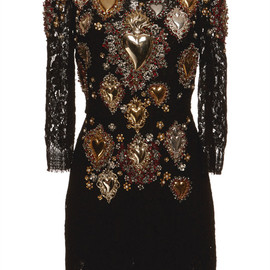 DOLCE&GABBANA - SS2015 Sacred Heart Embellished Lace Shift Dress