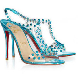 Christian Louboutin - J-Lissimo 100 skpiked metallic leather sandals