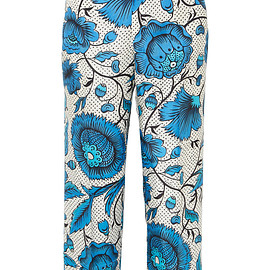 GUCCI - Cropped printed silk-twill wide-leg pants