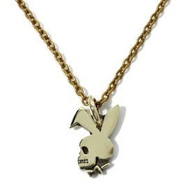 BLACK BOOTS - PLAYBOY NECKLACE