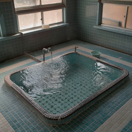 Blue-tiled bath for Brienne