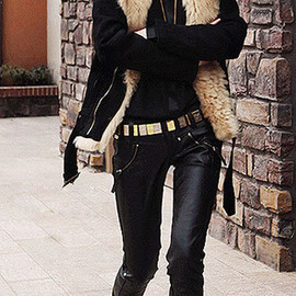 Cool Chic Black Warm Faux Fleece Lined Zip Women's Coat