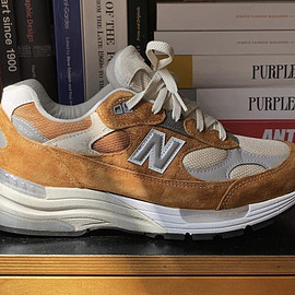New Balance, Packer Shoes - M992 - Sail/Light Brown
