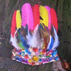 enatural - colorful feather / handmade