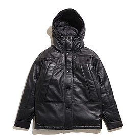 THE NORTH FACE PURPLE LABEL - Mountain Down Leather Jacket-K
