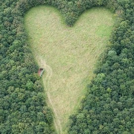 Wickwar, South Gloucestereshire, England - Heart Shaped Meadow