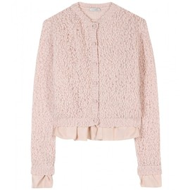 Nina Ricci - CARDIGAN WITH RUFFLED SILK TRIM