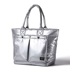 HEAD PORTER - SILVER JET TOTE BAG (MS)