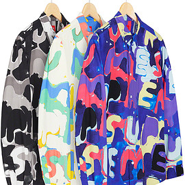 Supreme - Painted Logo Shirt
