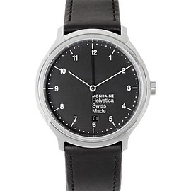 Mondaine - Helvetica No1 Stainless Steel and Leather Watch