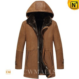 cwmalls - Chicago Mens Sheepskin Coat with Hood CW855571