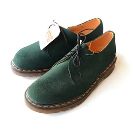 Dr. Martens - 3-Hole Green Suede