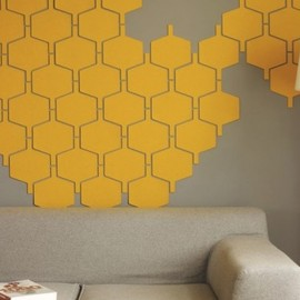 HIVE - flock wool modular wall tiles