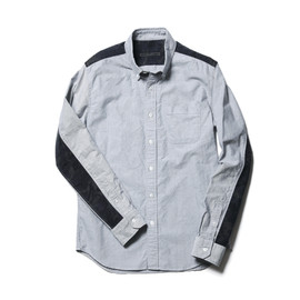 SOPHNET. - 2013/14 A/W CAMOUFLAGE PANEL OXFORD B.D SHIRT