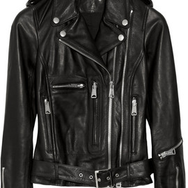 R13 - Textured-leather biker jacket