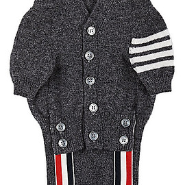 Thom Browne - Block-Striped Cashmere Dog Cardigan