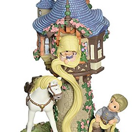 Precious Moments - Disney Rapunzel Musical with Base