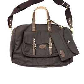 KICHIZO by Porter Classic - OILED COTTON BOSTON BAG - BROWN