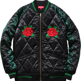 Supreme - Quiltied Satin bomber
