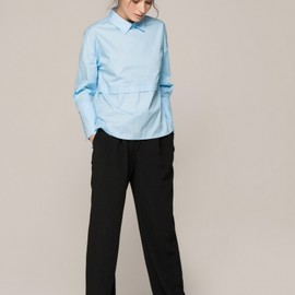 Front Row Shop - Blue Pullover Shirt