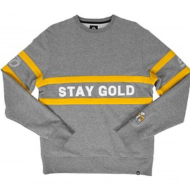 Benny Gold, Super Bowl 50, 47 Brand - NFL Super Bowl 50 Boutique Collection: Stay Gold Slate Grey Crew Neck