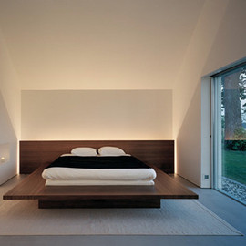 John Pawson - Bedroom at Fabien Baron's house, Sweden