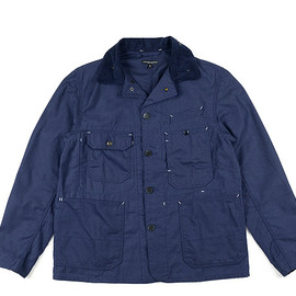 ENGINEERED GARMENTS - Coverall Jacket-Nyco Reverse Sateen-Navy